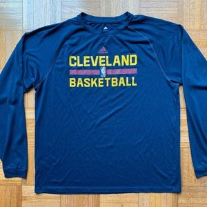 Adidas Climalite Cleveland Cavaliers Blue Shirt, L